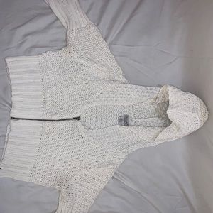 cropped knitted guess hoodie